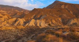 Tabernas, Tabernas Desert, Tabernas Desert Natural Park, Almeria Province, Andalusia, Spain. (Photo by: Education Images/UIG via Getty Images)