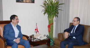 الحاج حسن بحث مع السفير المصري تعزيز التبادل التجاري-