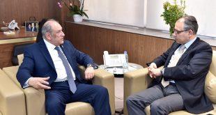 الجراح استقبل سفير مصر