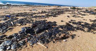 تلوث البحر بقع نفطية