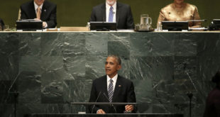 U.S. President Barack Obama addresses the United Nations General Assembly in the Manhattan borough of New York, U.S., September 20, 2016.  REUTERS/Mike Segar