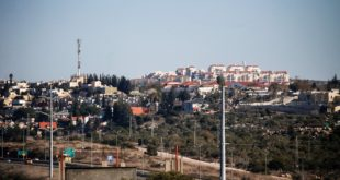 "CORRECTION - A general view taken on January 23, 2017 from the Palestinian West Bank village of Hares, south of the city Nablus, shows the Israeli Jewish settlement of Ariel. Israel has approved the construction of 2,500 settler homes in the occupied West Bank, the defence ministry said on January 24, 2017 making good on promises to expand such building following the election of US President Donald Trump, and marking the largest recent announcement of settlement building. / AFP PHOTO / JAAFAR ASHTIYEH / ""The erroneous mention appearing in the metadata of this photo by JAAFAR ASHTIYEH has been modified in AFP systems in the following manner: [January 23] instead of [January 24]. Please immediately remove the erroneous mention from all your online services and delete it from your servers. If you have been authorized by AFP to distribute it to third parties, please ensure that the same actions are carried out by them. Failure to promptly comply with these instructions will entail liability on your part for any continued or post notification usage. Therefore we thank you very much for all your attention and prompt action. We are sorry for the inconvenience this notification may cause and remain at your disposal for any further information you may require."""