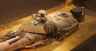 Ancient Egyptian mummy body preserved by mummification