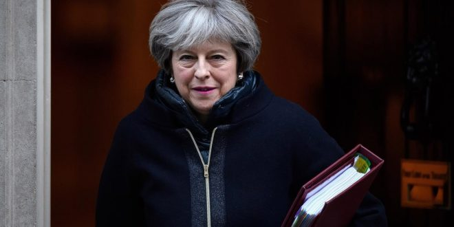 LONDON  ENGLAND - JANUARY 17   British Prime Minister Theresa May leaves number 10 Downing Street  ahead of the weekly PMQ session in the House of Commons on January 17  2018 in London  England    Photo by Leon Neal Getty Images    BESTPIX