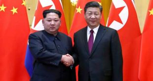 In this photo provided Wednesday, March 28, 2018, by China's Xinhua News Agency,  North Korean leader Kim Jong Un, left, and Chinese President Xi Jinping shake hands in Beijing, China. The Chinese government confirmed Wednesday that North Korea's reclusive leader Kim went to Beijing and met with Chinese President Xi in his first known trip to a foreign country since he took power in 2011. The official Xinhua News Agency said Kim made an unofficial visit to China from Sunday to Wednesday.(Ju Peng/Xinhua via AP)