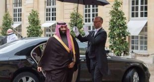 Saudi Crown Prince Mohammad bin Salman bin Abdulaziz Al Saud (L) arrives to meet French Prime Minister Edouard Philippe (Not Pictured) in Paris, France, 09 April 2018. Photo: ---/SPA/dpa