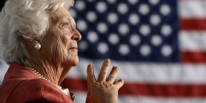 barbara-bush-us-flag