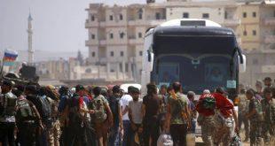 l'évacuation des rebelles de Deraa