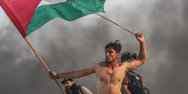 Palestinian-protester