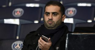 Yousef Al Obaidly, president of the BeIn Sport France television channel attends the UEFA Champions League Group A football match between Paris-Saint-Germain and Shakhtar Donetsk on December 8, 2015 at the Parc des Princes stadium in Paris. AFP PHOTO / FRANCK FIFE
