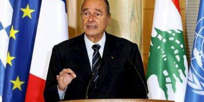 Chirac au Liban