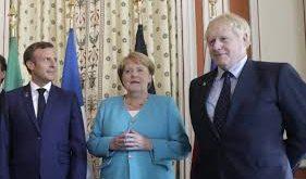 Macron, Merkel et Johnson