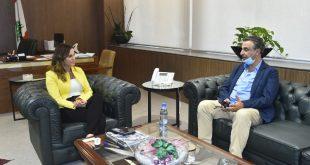 وزيرة الاعلام استقبلت رئيس جمعية جاد