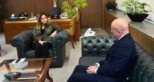 عبد الصمد مع سفير الأرجنتين