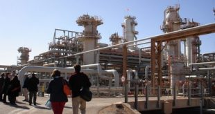 (FILES) A picture taken on December 14, 2008 shows a foreign delegation visiting the Krechba gas treatment plant run by the Sonatrach, BP and Statoil, about 1,200 km (746 miles) south of Algiers. One person was killed and seven wounded on January 16, 2013, including two foreigners, when Islamist militants attacked a base for oil workers in southern Algeria, state media reported. The attack took place at dawn in the Tinguentourine region, some 40 kilometres (25 miles) from In Amenas, where British oil giant BP operates a gas field in partnership with Algeria's Sonatrach, the APS news agency reported, citing local officials.     AFP PHOTO / STRINGER