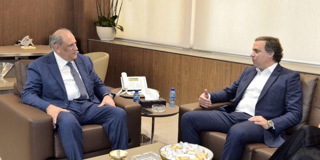 الجراح مع قنصل لبنان في البرازيل