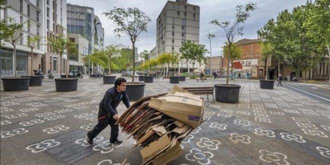 Barcelona  19 de abril de 2017   La superilla del Poblenou  Los vecinos  en contra  Almogavers    Roc Boronat y alrededores   Foto  Ricard Fadrique