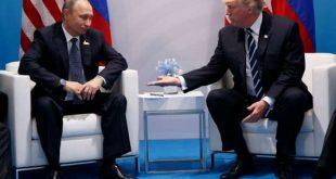 President Donald Trump meets with Russian President Vladimir Putin at the G20 Summit, Friday, July 7, 2017, in Hamburg. (AP Photo/Evan Vucci)