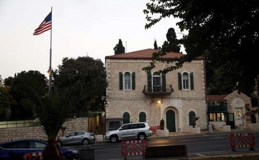A picture taken on October 18, 2018 shows the US consulate in Jerusalem. US Secretary of State Mike Pompeo announced today that the US office in Jerusalem dealing with Palestinians is being merged into the controversial new US embassy in the city. / AFP / THOMAS COEX