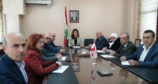اجتماع وزيرة الاعلام والوحدات