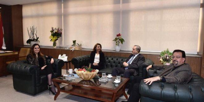 عبد الصمد وفد مجلس طائفة الدروز