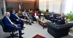 وزيرة الاعلام استقبلت وفد اتحاد نقابات المصارف