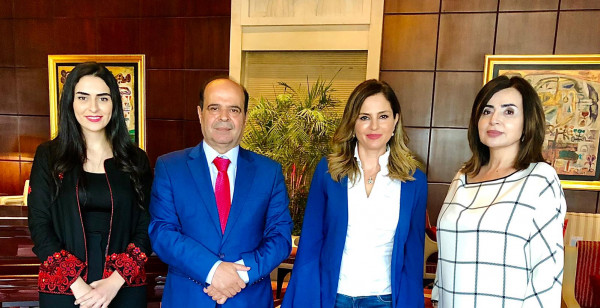 وكيل وزارة الإعلام يوسف المحمود، وزيرة الإعلام في لبنان